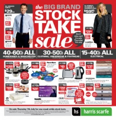 The big brand stocktake sale + free shipping on orders over $150 at Harris Scarfe.