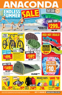 Anaconda catalogues endless summer sale, on selected  camping, tents, outdoor adventure and more gear