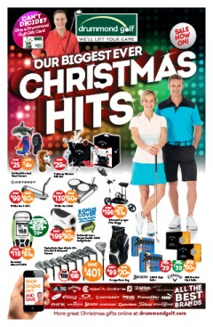 Drummond Golf our biggest ever Christmas hits