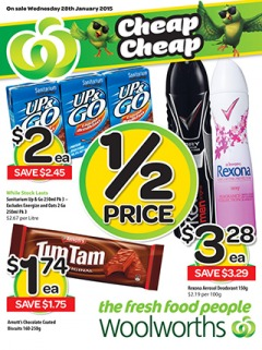 Woolworths catalogue weekly specials from 28 Jan - 3 Feb 2015