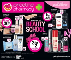 Priceline welcome to beauty school, on selected vitamins, makeup, skincare and fragrance