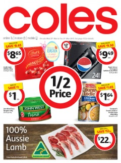 Coles catalogue & specials offers huge saving 1/2 prices on groceries and fresh food