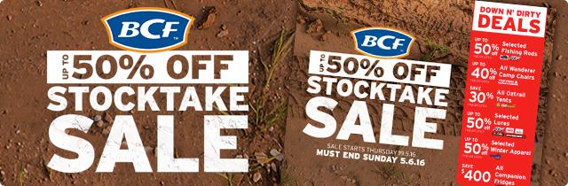 BCF Stocktake Sale