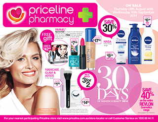 Priceline new catalogues  30 days fashion & beauty, on selected top brands L'oréal, Revlon and more offers