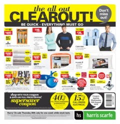 Harris Scarfe - The all out clearout + free shipping on orders over $150.