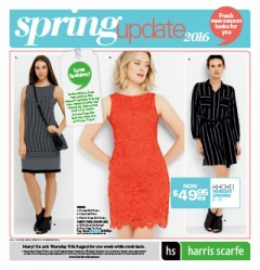 Harris Scarfe - Spring update, on selected homewares, manchester, clothing and more.