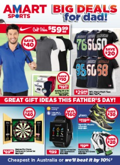 Amart Sports big deals for dad on selected clothing, footwear, gym & fitness and more at the best prices.