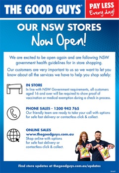 Our NSW Stores Now Open!