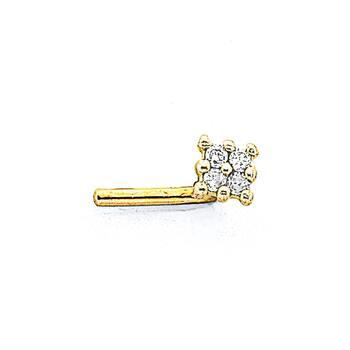 9ct Gold, Diamond Invisable Setting Nose Stud