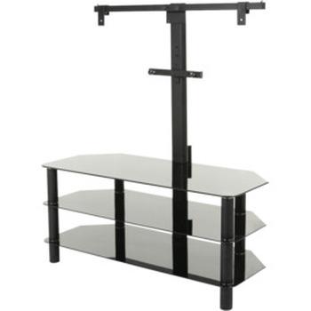 TV Stand with Bracket 1050mm Glass 3 Shelf