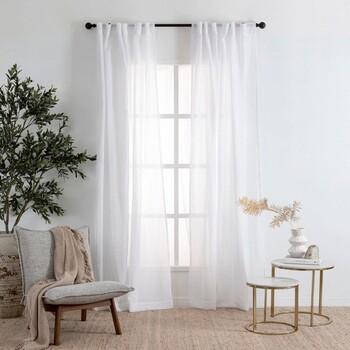 Marina Sheer White Curtain Pair by Habitat