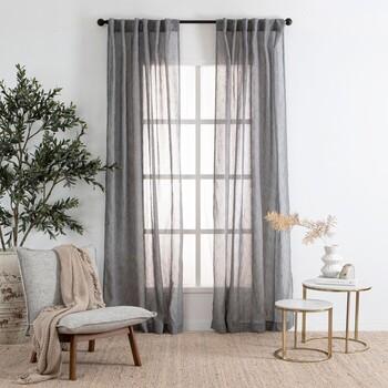 Marina Sheer Shadow Curtain Pair by Habitat