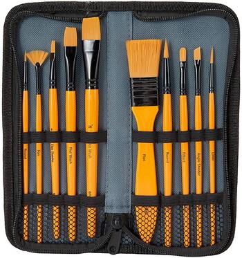 11 Pack Brush Set in Wallet
