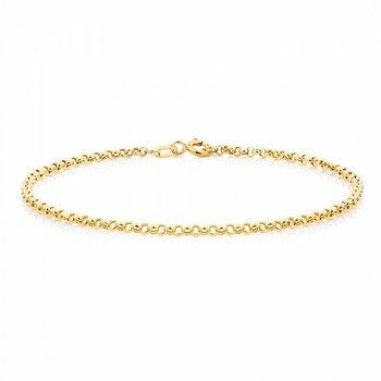 "NEW 19cm (7.5"") Belcher Bracelet in 10ct Yellow Gold"