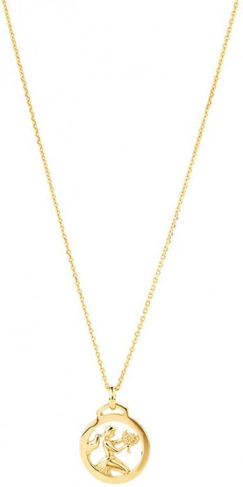 Zodiac Pendant with Chain in 10ct Yelow Gold