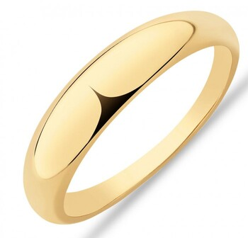 NEW Narrow Polished Dome Ring in 10ct Yellow Gold
