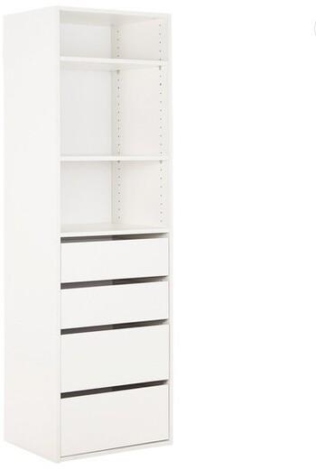 Tailor 3 Shelf 4 Drawer Storage Unit
