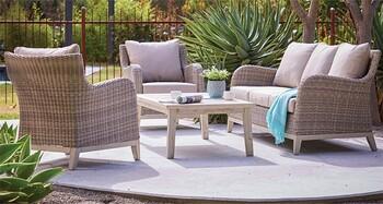 Aruba 5 Seater Wicker Lounge Setting