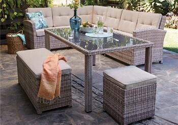 Devon 9 Seater Wicker Lounge Setting