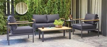 Brooklyn 4 Seater Aluminium Lounge Setting