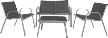 Pacific 4 Seater Texteline Lounge Setting