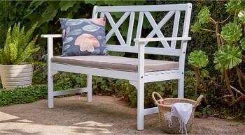Hamptons 2 Seater Timber Bench
