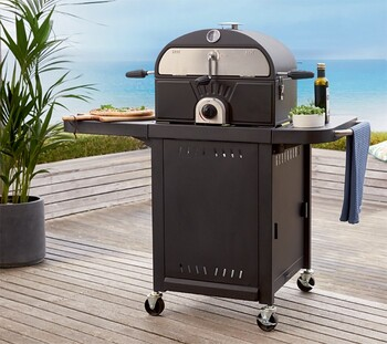 Grilled Gas BBQ & Pizza Oven Combo