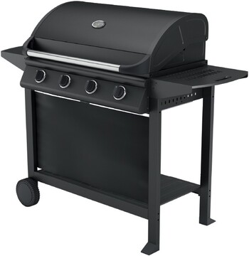 Ozzie 4 Burner Hooded BBQ with Trolley