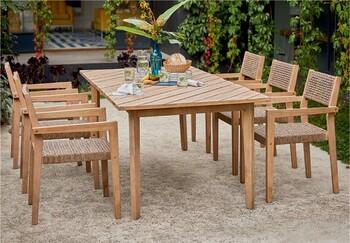Bondi 6 Seater Timber Dining Setting