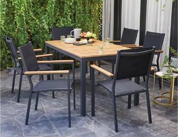Brooklyn 6 Seater Aluminium Dining Setting