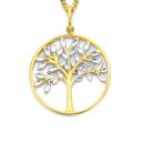 9ct-Gold-Two-Tone-Tree-of-Life-Pendant Sale