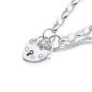 Sterling-Silver-Padlock-Oval-Belcher-Bracelet Sale