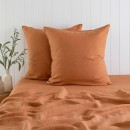 Washed-Linen-Rust-European-Pillowcase-Pair-by-MUSE Sale