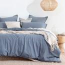 Java-Light-Blue-Washed-Cotton-Quilt-Cover-Set-by-Habitat Sale