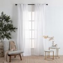 Marina-Sheer-White-Curtain-Pair-by-Habitat Sale