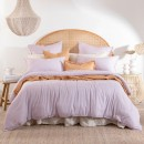 Washed-Linen-Look-Mauve-Quilt-Cover-Set-by-Essentials Sale