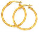 9ct-Gold-2x20mm-Twist-Hoop-Earrings Sale