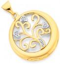 9ct-Gold-Diamond-Heart-Tree-of-Life-Pendant Sale