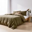 Makena-Cotton-Quilt-Cover-Set-Olive Sale