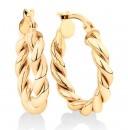NEW-15mm-Braid-Twist-Hoop-in-10ct-Yellow-Gold Sale