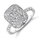 NEW-Pave-Ring-with-1-Carat-TW-of-Diamonds-in-14ct-White-Gold Sale
