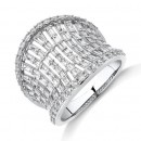 NEW-Concave-Ring-with-150-Carat-TW-of-Diamonds-in-14ct-White-Gold Sale