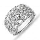 NEW-Diamond-Cluster-Ring-with-100-Carat-TW-of-Diamonds-in-10ct-White-Gold Sale