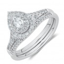 Evermore-Bridal-Set-with-060-Carat-TW-of-Diamonds-in-10ct-White-Gold Sale