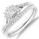 Bridal-Set-with-038-Carat-TW-Of-Diamonds-in-10ct-White-Gold Sale