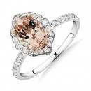 Sir-Michael-Hill-Designer-Engagement-Ring-with-Morganite-040-Carat-TW-of-Diamonds-in-18ct-White-Gold Sale