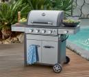 Grilled-4-Burner-Stainless-Steel-Hooded-BBQ-with-Side-Burner Sale