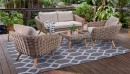 Maui-4-Seater-Wicker-Lounge-Setting Sale
