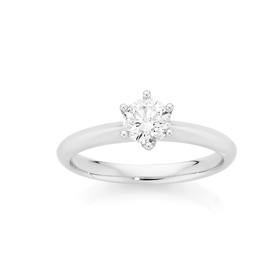 18ct-White-Gold-Diamond-Solitaire-Ring on sale