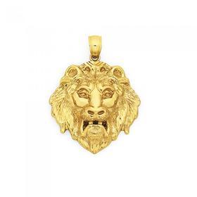 9ct-Gold-Lion-Head-Pendant on sale
